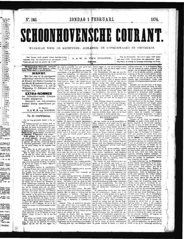 Schoonhovensche Courant 1874-02-01