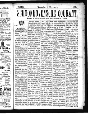 Schoonhovensche Courant 1893-11-15
