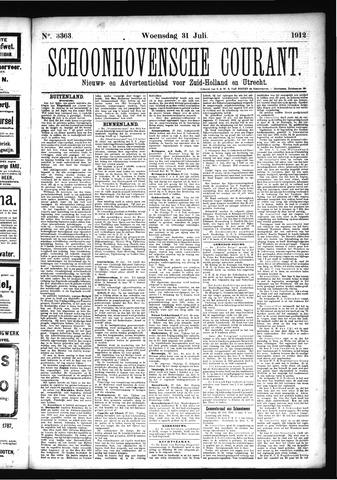 Schoonhovensche Courant 1912-07-31