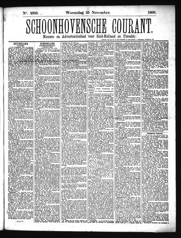 Schoonhovensche Courant 1908-11-25