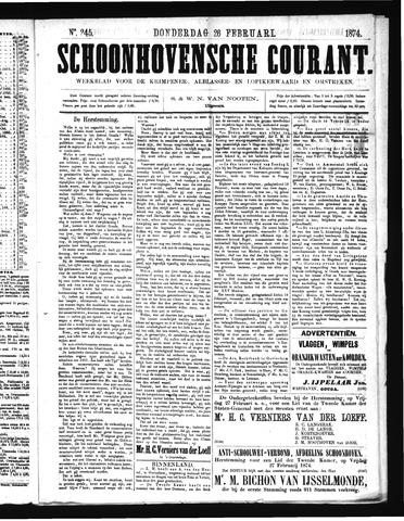 Schoonhovensche Courant 1874-02-26
