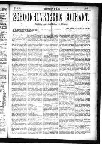 Schoonhovensche Courant 1885-05-02