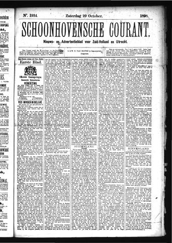 Schoonhovensche Courant 1898-10-29