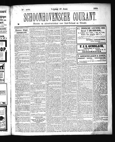Schoonhovensche Courant 1919-06-27