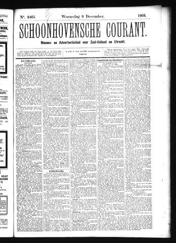 Schoonhovensche Courant 1903-12-09