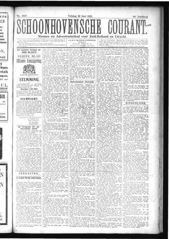 Schoonhovensche Courant 1922-06-30