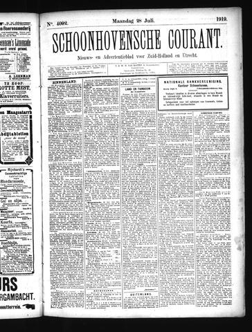 Schoonhovensche Courant 1919-07-28