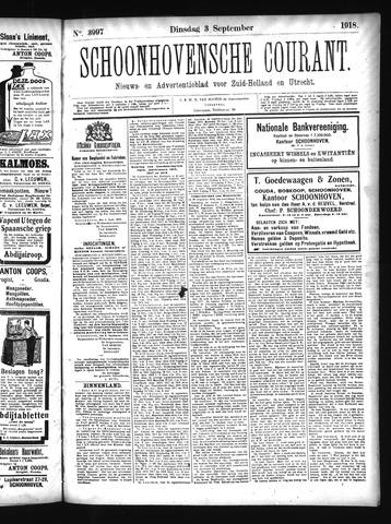 Schoonhovensche Courant 1918-09-03