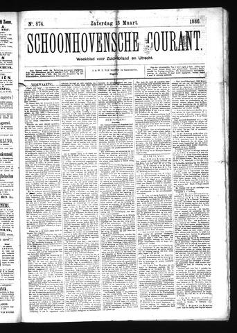 Schoonhovensche Courant 1886-03-13