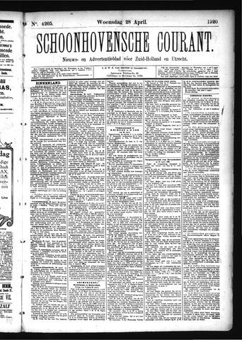 Schoonhovensche Courant 1920-04-28
