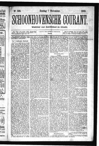 Schoonhovensche Courant 1880-11-07