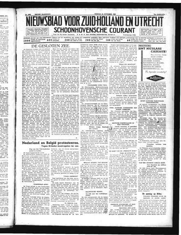 Schoonhovensche Courant 1939-11-24