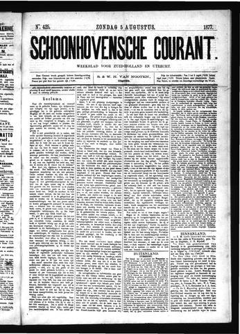 Schoonhovensche Courant 1877-08-05
