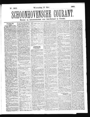 Schoonhovensche Courant 1905-05-17