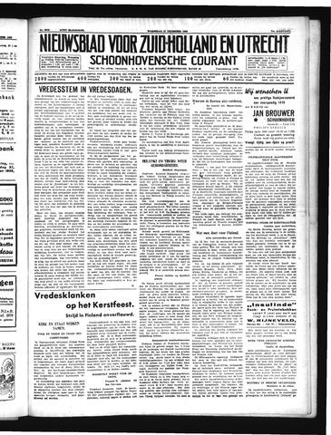 Schoonhovensche Courant 1939-12-27