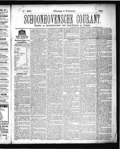 Schoonhovensche Courant 1915-02-09