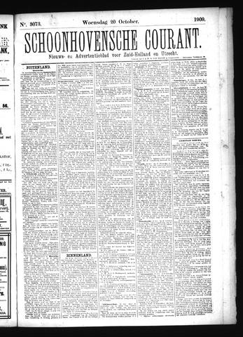 Schoonhovensche Courant 1909-10-20