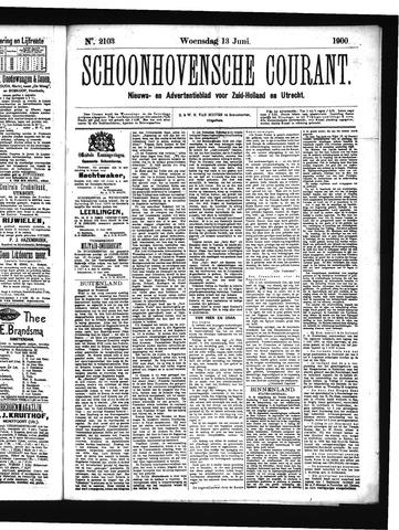 Schoonhovensche Courant 1900-06-13