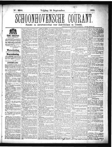 Schoonhovensche Courant 1915-09-10