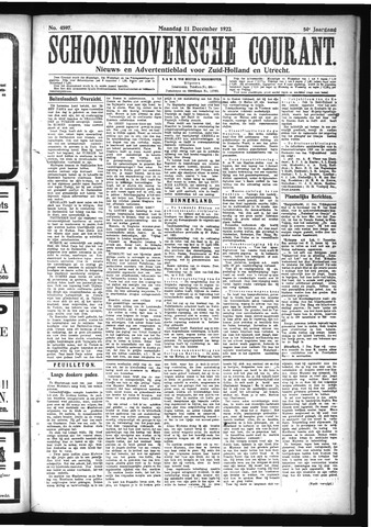 Schoonhovensche Courant 1922-12-11