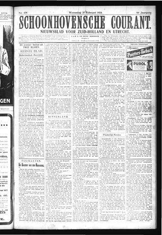 Schoonhovensche Courant 1924-02-27