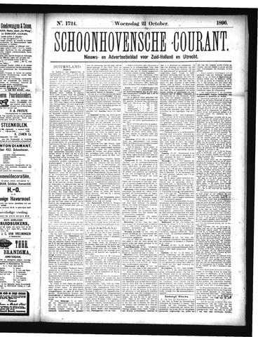 Schoonhovensche Courant 1896-10-21