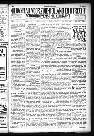 Schoonhovensche Courant 1932-02-15