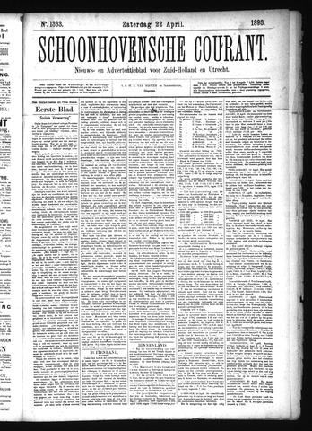 Schoonhovensche Courant 1893-04-22