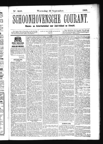 Schoonhovensche Courant 1903-09-30