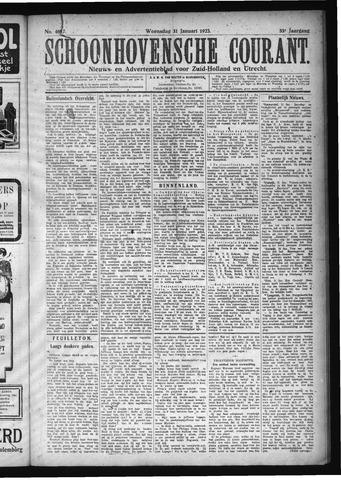 Schoonhovensche Courant 1923-01-31