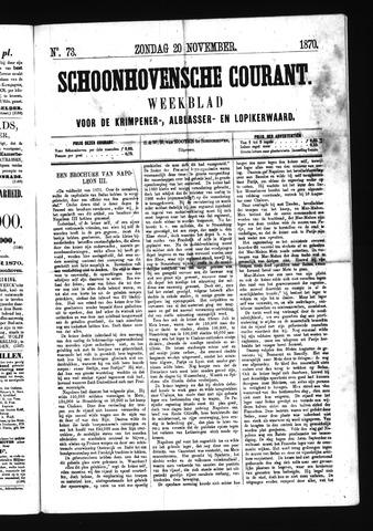 Schoonhovensche Courant 1870-11-20
