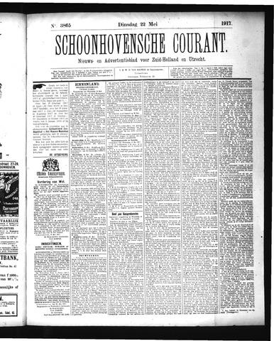 Schoonhovensche Courant 1917-05-22