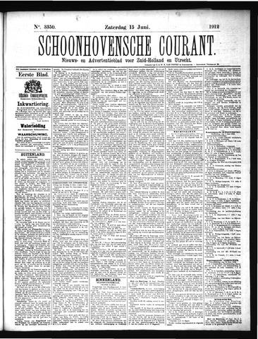 Schoonhovensche Courant 1912-06-15