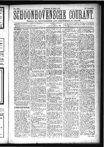 Schoonhovensche Courant 1922-04-10