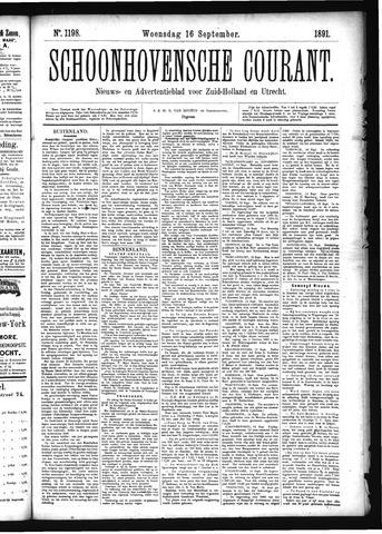 Schoonhovensche Courant 1891-09-16