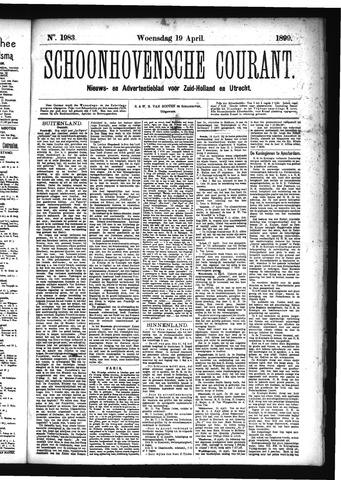 Schoonhovensche Courant 1899-04-19