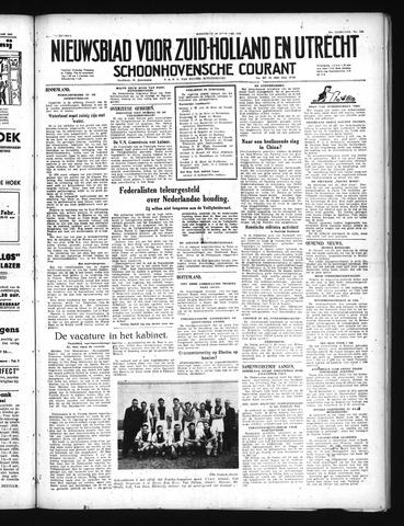 Schoonhovensche Courant 1949-02-16