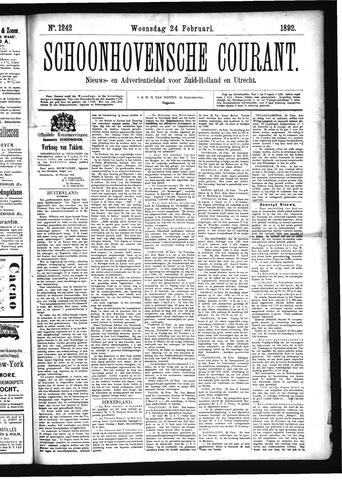 Schoonhovensche Courant 1892-02-24