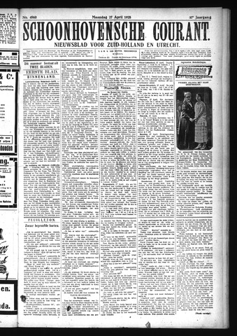 Schoonhovensche Courant 1925-04-27