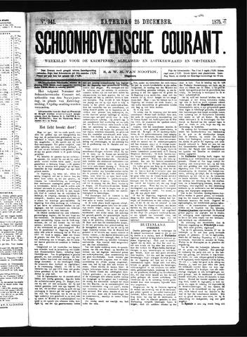 Schoonhovensche Courant 1875-12-25