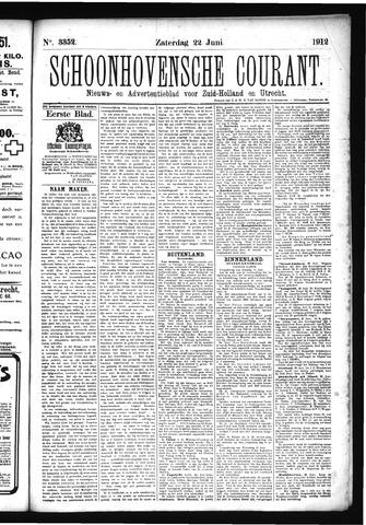 Schoonhovensche Courant 1912-06-22