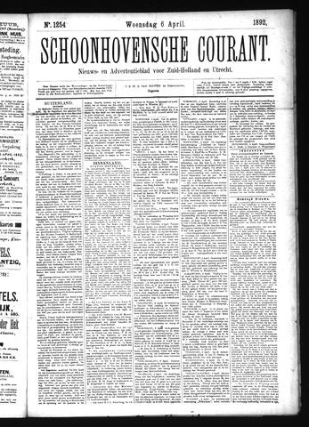 Schoonhovensche Courant 1892-04-06