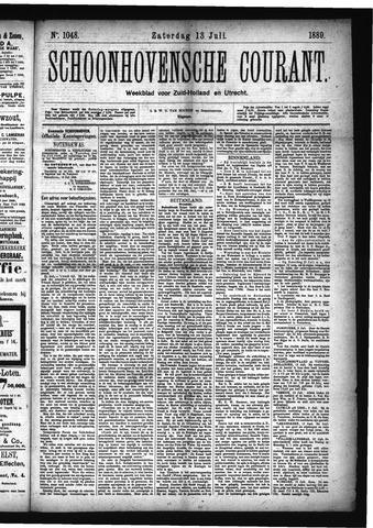 Schoonhovensche Courant 1889-07-13
