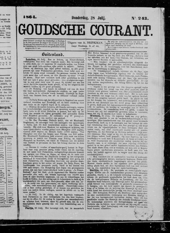 Goudsche Courant 1864-07-28