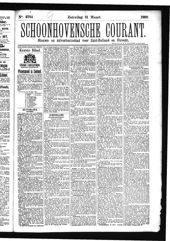 Schoonhovensche Courant 1906-03-31