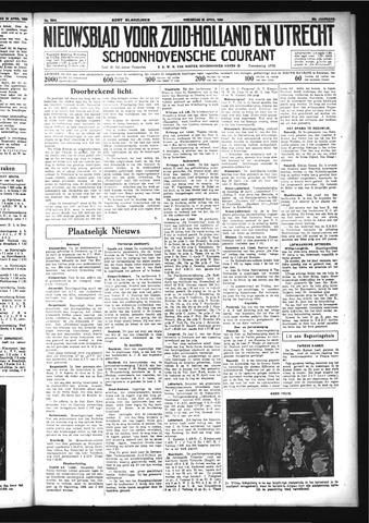 Schoonhovensche Courant 1934-04-25