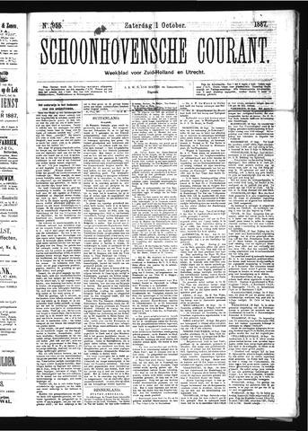 Schoonhovensche Courant 1887-10-01