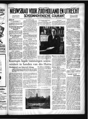 Schoonhovensche Courant 1949-12-27
