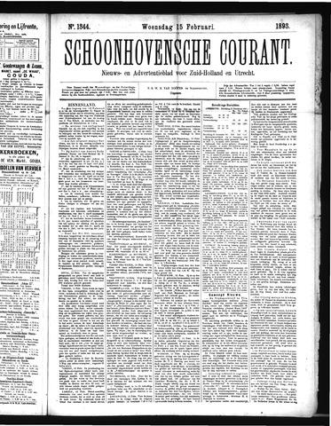 Schoonhovensche Courant 1893-02-15