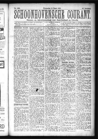 Schoonhovensche Courant 1922-03-15